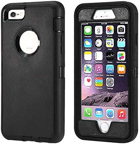 Annymall Case Compatible for iPhone 8 iPhone 7 Heavy Duty with Kickstand Built in Screen Protector product image
