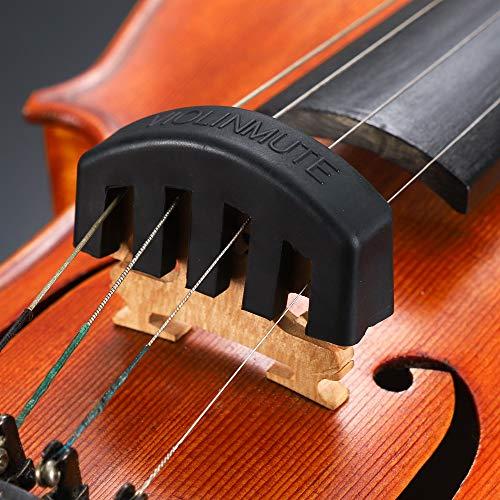 Eno Music Rubber Violin Practice Mute for 4/4 Violin