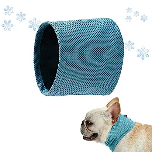 Shujin Collar de refrigeración para perros, pañuelo refrescante para perros, bandana, pañuelo para la cabeza, pañuelos, para mascotas, para el verano, color azul, S