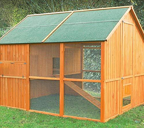 FINCA CASAREJO Gallinero Noruega con Capacidad para 10-12 gallinas - El más Grande del Mercado!