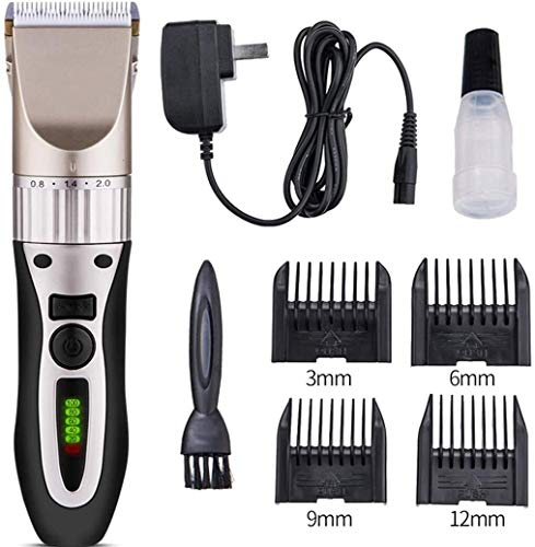Professionele Pet Grooming Trimmer, Rechargeable Cordless Mute Razor, Low Noise Electric Hair Clipper Beauty Trimmer Suit for kleine en middelgrote honden grote honden