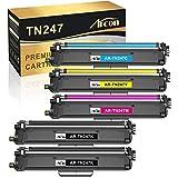 Arcon 5 paquetes compatibles con Brother TN247 TN-247 TN 243 TN243 TN-243 para MFC-L3710CW DCP-L3550CDW HL-L3230CDW MFC-L3750CDW HL-L3210CW DCP-L3510CDW MFC-L3770CDW HL-L3270CDW HL-L3270CDW CDW