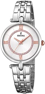 Festina F20315/1 Two-Tone Stainless Steel Stone Embellished Dial Round analog Watch for Women