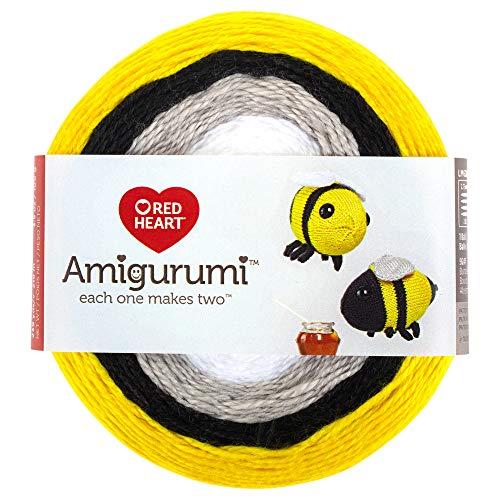 RED HEART E885. 9247 Amigurumi Yarn, Bumble Bee