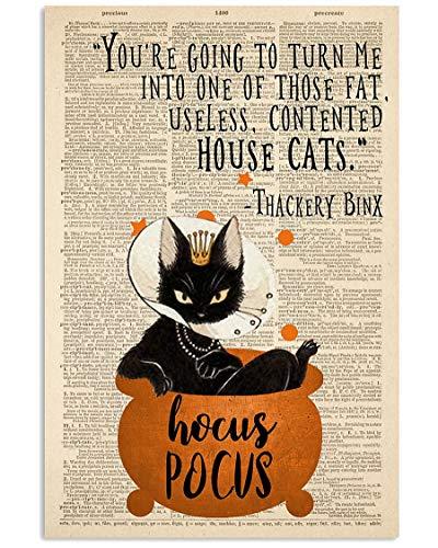 MCTEL Thackery Binx Black Cat From Hocus Pocus