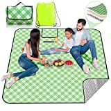 Extra Large Picnic & Outdoor Blanket with Aluminum Backing |Newly Sandfree and Waterproof | Handy Beach mat Sand Proof with Carry Strap,Great for Grass,Beach and Camping