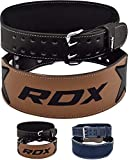 RDX Weight Lifting Belt for Fitness Gym Training - Double Prong Cowhide Leather