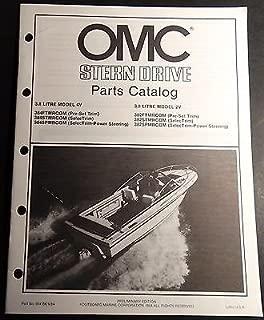 1985 OMC STERN DRIVE 3.8 LITRE 4V & 3.8 LITRE 2V P/N 984106 PARTS MANUAL (609)