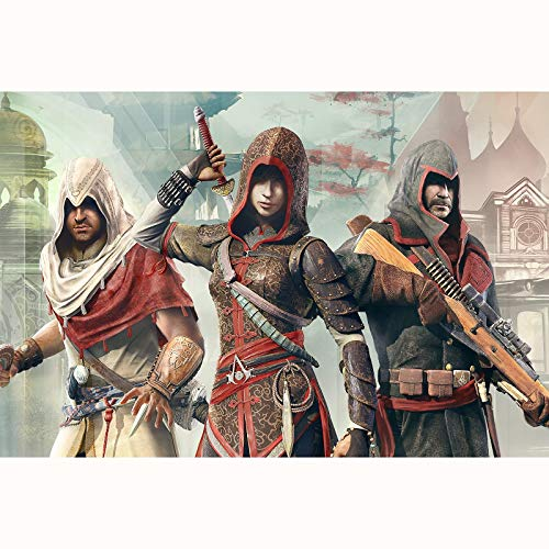 FENGZI Los Rompecabezas de los crónicos de Assassin'S Creed para Adultos 1000 Piezas difíciles de desafío Juguetes Juguetes para Hombres para niños Regalos (Size : 1000Pieces)