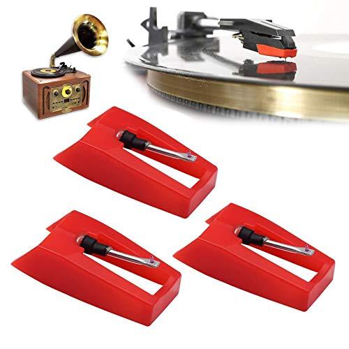 ALLIS Aghi per Giradischi, Aghi per fonografo in Ceramica Universale, Aghi di Ricambio per Giradischi per Vari Giradischi (3PCS)