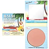 theBalm Balm Beach Face Blush, Natural Glow, Fade-Resistant, Skin Makeup, Powder, Highlighter Soft beauty, Professional Cosmetics Brown, 0.225 Fl Oz