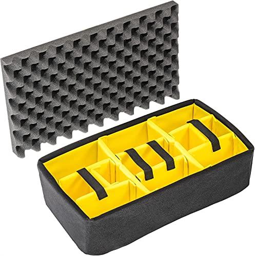 PELI 1515 set divisori imbottiti, accessorio per valigia PELI Protector originale, compatibile con: PELI 1510, colore: Nero/Giallo