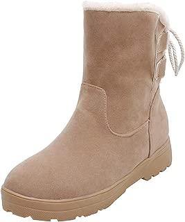 FANIMILA Women Warm Winter Flat Shoes Round Toe