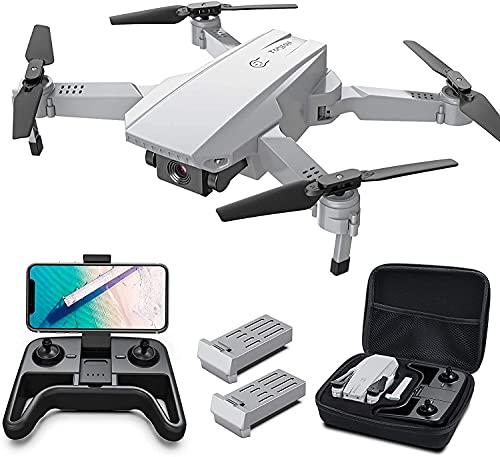 Tomzon Drone Plegable con Cámara 4K, 24 Mins de Vuelo, Posicionamiento de la luz, Modo MV, Fotografía de Gestos con Mano, DIY de Ruta, Flips 3D, 2 Baterías, Drone para Principiantes