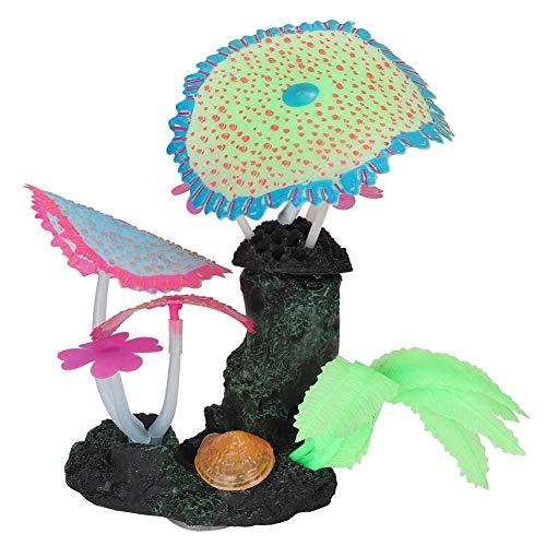 Powerlift Makkelijk schoon te maken plastic kunstmatige koraalplant aquarium decoraties kunnen verfraaien het aquarium, Groen