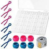 Bobina per macchina da cucire da 25 pezzi, bobine di plastica trasparente Sonku con 6 clip...