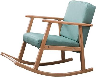casa.pro] Mecedora marrón de madera maciza - Silla para ...