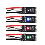 4pcs 35A Brushless ESC LED BLHeli_32 2-5S Electronic Speed Controller RGB LED 3D Mode Support Dshot150/300/600/1200 Oneshot125 Oneshot42 MultiShot for RC FPV Racing Drone Quadcopter