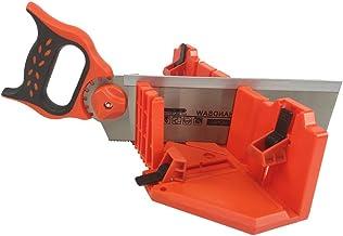 DUEBEL Caja de ingletadora con sierra ingletadora de 30,48 cm, sierra de ángulo para carpintería, sierra diagonal, de 0 22,5 cm, 45 grados, sierra de tenona