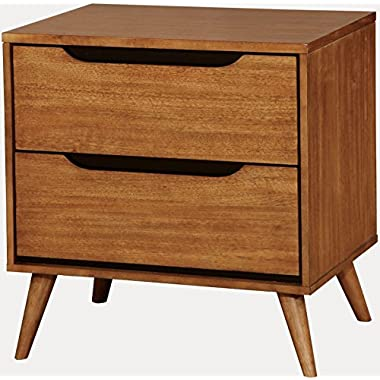 Furniture of America CM7386A-N Lennart Oak Nightstand, 24  H