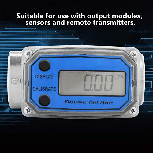 Kraftstoff-Durchflussmesser - Digital-Turbine-Kraftstoff-Meter Diesel Benzin Treibstoff Wasser-Durchflussmesser 15-120L / min 1