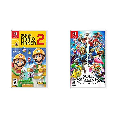 Super Mario Maker 2 - Nintendo Switch Bundle with Super Smash Bros....