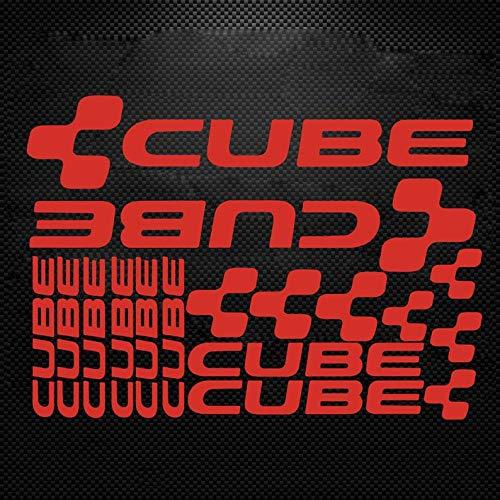 Cube Fahrradrahmen-Aufkleber, Shimano MTB DH Radfahren Road Ride Rack Rahmen-Aufkleber, Vinyl, DIY