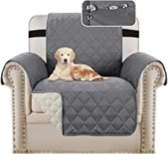 Waterproof Sofa 1 Seater Cover Chair Protectors Cover for Living Room Non Slip Furniture Cover for Dogs/Pets, Checked Patt...
