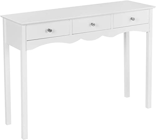wholesale Giantex Console Table W/3 outlet online sale Drawers for Living Room, Bedroom, Entryway popular Multifunctional Usage Accent Hall Table Desk online sale