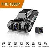 Camara de Coche,Dash Cam, FHD Dual Lens Dash Cam...