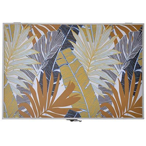 Tapa Contador de Luz Decorativo, Diseño Tropical, Hojas y Colores Tropicales 46x32x6 cm - Hogar y Más - B