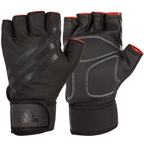 adidas Elite Training, Guanti Fitness, Nero, XL - 21.5-23 cm intorno al palmo