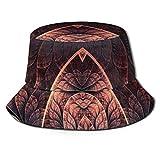 GodYo Bucket Hat Packable Reversible El Arte de los Patrones extraños Imprimir Sun Hat Fisherman Hat Cap Camping al Aire Libre