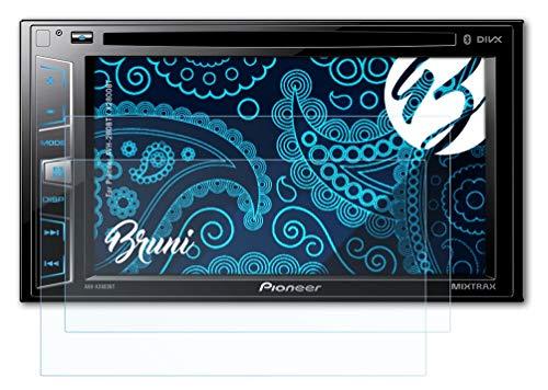 Bruni Schutzfolie kompatibel mit Pioneer AVH-280BT / X2800BT Folie, glasklare Bildschirmschutzfolie (2X)
