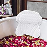TWBEST Almohada de baño,Almohada Bañera con 6 ventosas,Malla 3D Cojín de baño,Diseño ergonomico,Puede soportar la Cabeza,el Cuello,la Espalda,Adecuado para el hogar,SPA,Aguas Termales y Otros Lugares