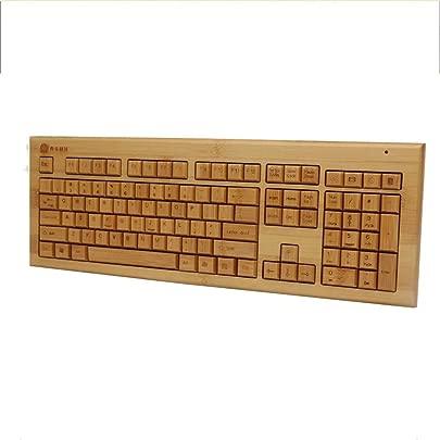 WPCBAA Bambus-Holz-Produktion 2 4 GHz USB-Funk-Tastatur mutet Silent 360 in 10 Metern drahtlosen Empfang Home-Office-Spiele Typing Schätzpreis : 86,02 €