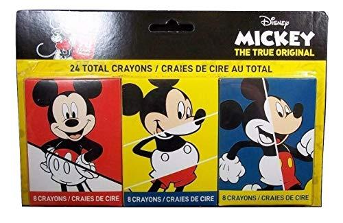 Mickey Mouse Crayon Set Of 3 Packs 24 Crayons 90 Year Anniversary