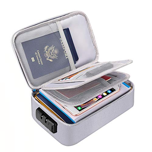 ENGPOW Small Fireproof File Organizer Case with Lock(9.4