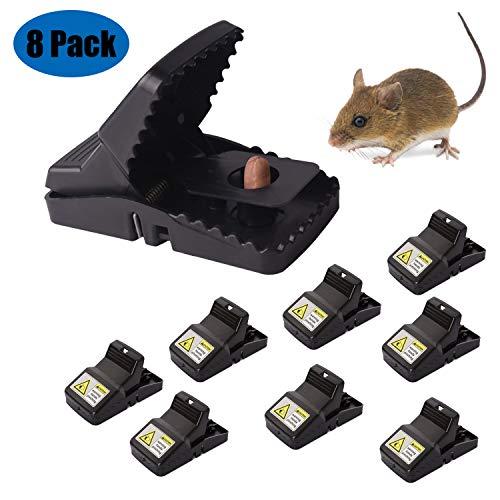 Soontrans 8pcs Trampas para Ratas Alta Sensibilidad Ratoneras para Ratones Reutilizable Higiénicas