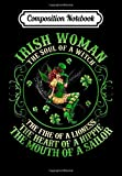 Composition Notebook: Irish Woman The Soul of A Witch T St Patrick s Day Gift, Journal 6 x 9, 100 Page Blank Lined Paperback Journal/Notebook