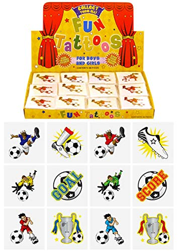 Football Tattoos, pack of 24, assorted