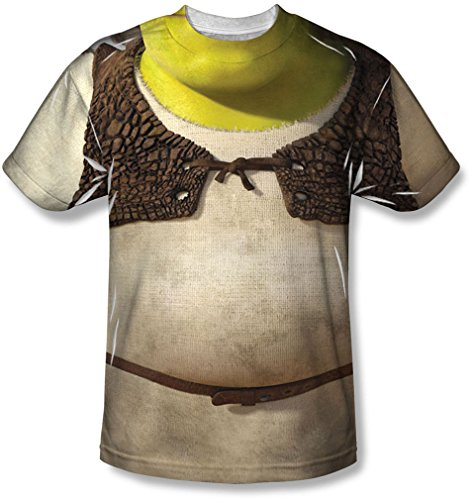 Shrek - Herren-Kostüm-T-Shirt, XX-Large, White
