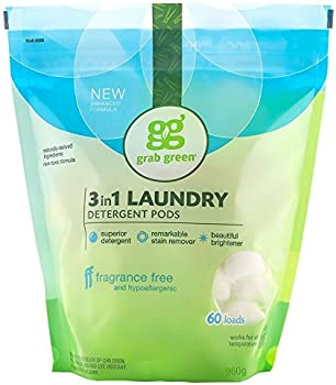 Grab Green Natural 3-In-1 Laundry Detergent Pods 34 Oz