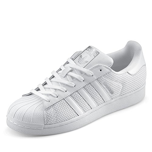Adidas, Unisex adulto, Superstar Blanco Plata, Mesh /...