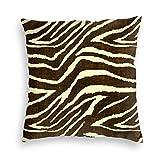 MaJack Zebra In Winter Animal Print Funda de cojín cuadrada suave decorativa para salón sofá dormitorio con cremallera invisible 45 x 45 cm