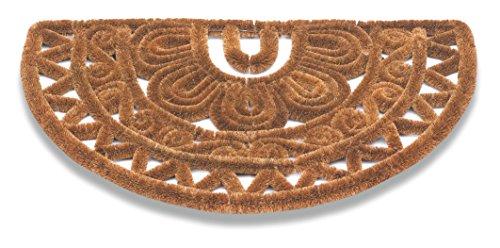 Deurmat DRAGO, dikte 30 mm, 80% kokosvezels natuur en 20% ijzer 45 x 75 cm halfrond voor binnen en buiten.