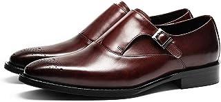 Rui Landed Negocios Oxford Zapatos for Hombres Zapatos Formales de Primera Calidad de Cuero Genuino Hebilla del Bloque de ...