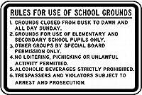校庭の使用に関する規則 金属板ブリキ看板警告サイン注意サイン表示パネル情報サイン金属安全サイン
