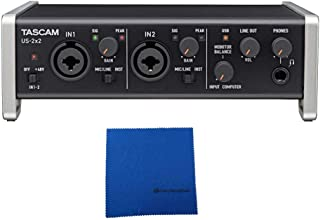 Tascam US-2x2 USB 2.0 2-In/2-Out Audio/MIDI interface with Microfiber