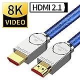8K HDMIケーブルSIKAI 1M パナソニック LG TV ソニー TV maxzen TV シャープ8T-C80AX1 ハイセンス TCL 東芝 三菱 Apple TVなどの48Gbps超高速8K 4320P UHD HDR HDMI無損失伝送HDライン